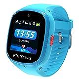 Bambini Smartwatch Impermeabile con GPS Tracker, Touch screen HD Orologio Telefono con Localizzatore GPS Chat Vocale SOS Gioco Sveglia da Polso Regalo Ragazzi Ragazze (W003-Blue)