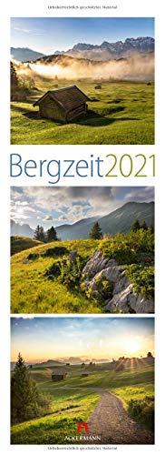 Bergzeit Kalender 2021, Wandkalender im Hochformat (24x66 cm) - Triplet-Landschaftskalender mit Alpen und Bergen für Berg-Fans / Wanderer