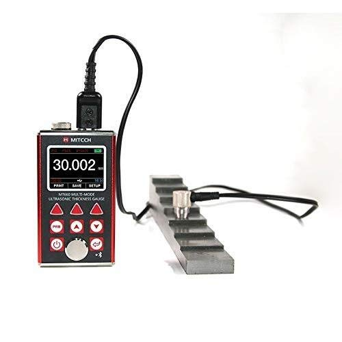 Allamp Measurement Instrument High precision Portable Digital OLED Ultrasonic Thickness Gauge MT660 Professional Testing Tester Thickness Gauge