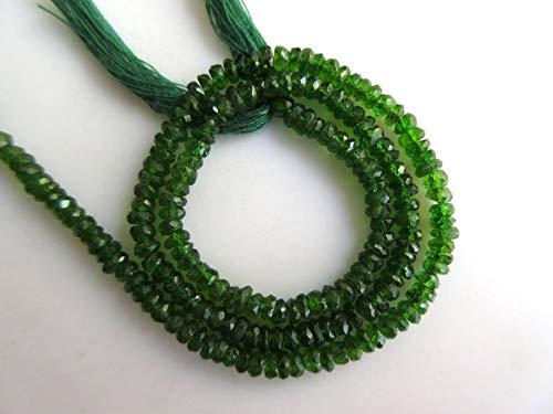 Natural Tsavorite Faceted Beads, Green Grossular Garnet Faceted Rondelle Beads, 3mm to 3.5mm Beads, Tsavorite Jewelry