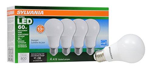 LEDVANCE 78040 LED 60W Equivalent Daylight Color 5000K Ultra A19 Bulb, 4 Piece