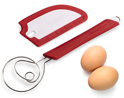Breadsmart Juego de Batidora y Espátula para Pan Artesanal - Herramientas Esenciales para Amasar el Pan - Utensilios de Calidad para la Preparación de Pan en Casa
