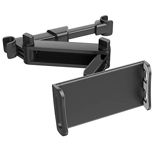 "ECOEMO Car Headrest Mount/Tablet Headrest Holder Universal 360° Rotating Adjustable for Smartphones/Tablets/Switch 4""-10.6"", Headrest Posts Width 4.7in-5.9in"