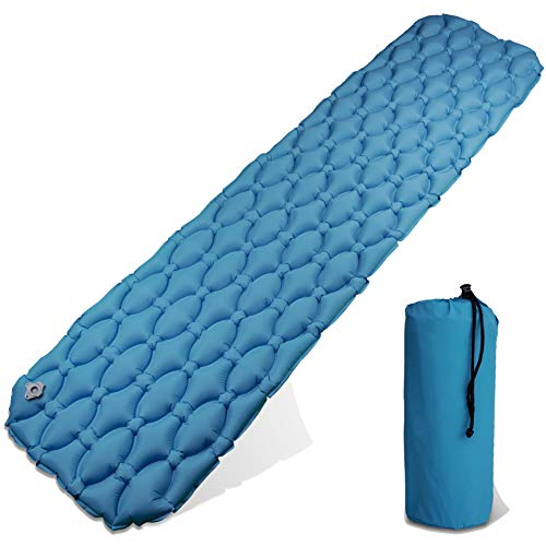 LCP Sports Camping Luftmatratze 201x53 cm XL Kompakte Outdoor Isomatte Blau