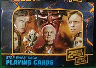 Star Wars Saga Playing Cards Double Deck in Collectible Embossed Tin (Ep 1-6)