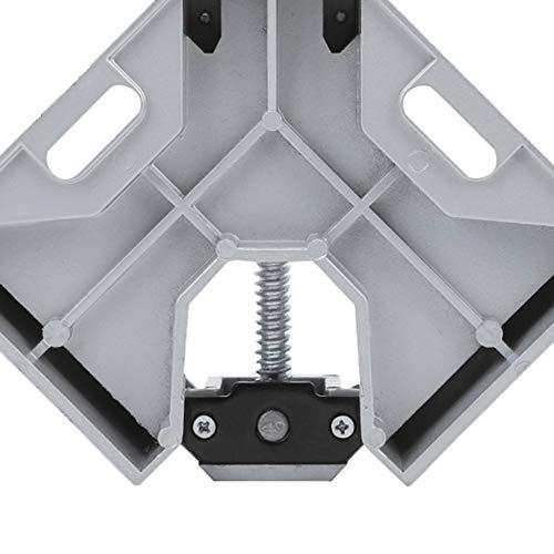Abrazadera de soldadura, material de aleación de aluminio Antideslizante Seguro y confiable Tornillo de banco de mesa de instalación rápida con una mordaza giratoria ajustable para