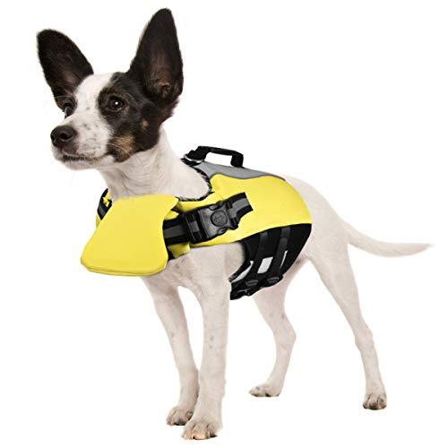POPETPOP Schwimmweste für Hunde - Reflektierend Hundeschwimmweste Float Coat Schwimmweste Schwimmtraining mit Polsterung für Kleine, Mittlere, Große Hunde
