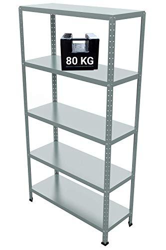 GRIMA Componibili Scaffale Metallo 5 ripiani - 100x40x187h (80KG each, total 400KG) Scaffali in...