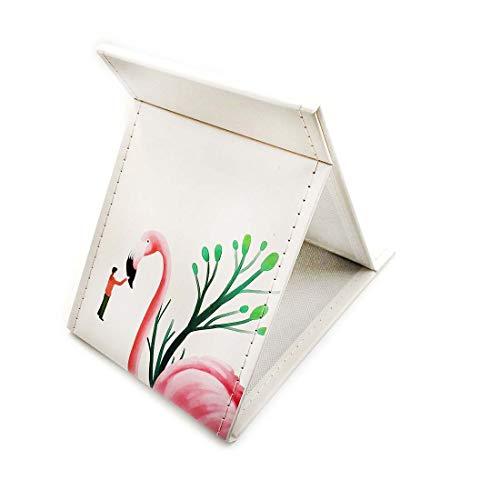 Faltbarer Spiegel aus Papier mit Süßes Design Groß Schminkspiegel für Make Up Rasierspiegel mit Stand Kompakt Tischspiegel Tragbar für Reise für Kinder Mädchen Frauen