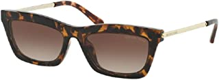 Michael Kors MK2087U STOWE 333313 54M Dark Tortoise/Smoke Gradient Rectangle Sunglasses For Women