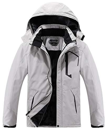 MOERDENG Men's Waterproof Ski Jacket Warm Winter...