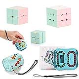 Ulikey Magic Beans Spielzeug, 6Pcs Brain Teaser Puzzles Set, Zauberwürfel Set für Kinder und Erwachsene, Puzzle Cube Spielzeug für Kids Intelligence Development, Stress Linderung (Grün)