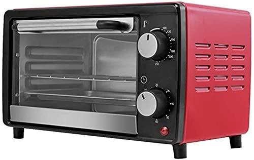 ZFQZKK Toaster Horno Mini horno 12L Capacidad 100-250 ° Control de temperatura 60 minutos Temporizador Pan desayuno Máquina para hornear Hogar Pequeño horno Cocina Halógena Hornos artilugio de cocina