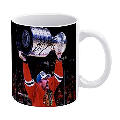 Keramik-Kaffeetasse, Motiv: Brad Richards Chicago Blackhawks, für Tee, Kaffee, Weihnachten, Geburtstag, Geschenk, 325 ml