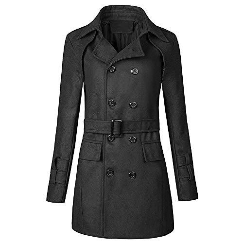 N\P Abrigo de solapa doble botonadura para otoño e invierno