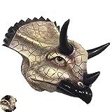 TOPNIU Muro Escultura Arte Interior Falso Animal Cabeza Falsa Animal Cabeza, Triceratops Triceratops Triceratops de Monte, Escultura de Cabeza Animal Creativa, Resina respetuosa con el Medio Ambiente