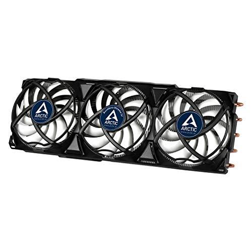 ARCTIC Accelero Xtreme IV - Fast geräuschloser Grafikkartenkühler mit einer Kühlleistung von 300 Watt, patentierter Back-Side-Kühler und neue Lüftersteuerung für höchste Effizienz, multikompatibel