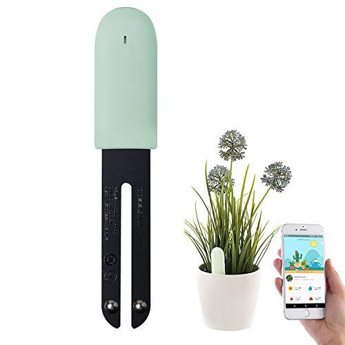 WANFEI Mijia Pflanzensensor Flower Care Tester, Der Intelligente Pflanzenmonitor Bluetooth 4 in 1 Pflanzensensor überwacht Automatisch das Feuchtigkeits/Licht/Fruchtbarkeits/Temperaturniveau