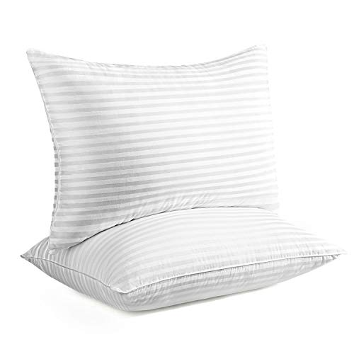 Gekison Bed Pillows for Sleeping 2 Pack, Hypoallergenic Pillow for Side and Back Sleeper, Down Alternative Cooling Pillow with Soft Premium Plush Fiber Fill (Queen Size)