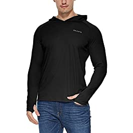 BALEAF Men's UPF 50+ Sun Protection Hoodie Long Sleeve...