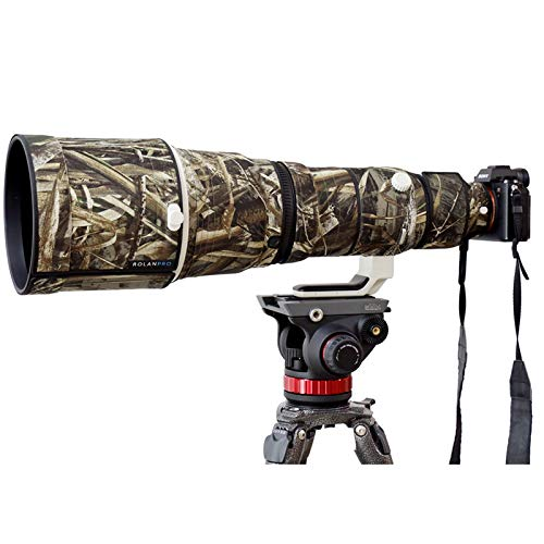 ROLANPRO Nylon Waterproof Lens Camouflage Rain Cover for Sony FE 600mm F/4 GM OSS Lens Protective Case Guns Clothing
