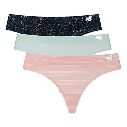 New Balance Women's Breathable Thong Panty 3-Pack, Athletic Lightweight Underwear