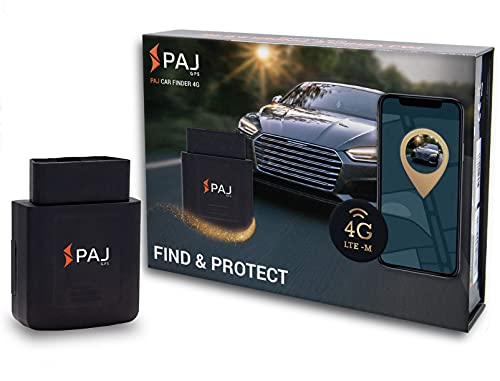 PAJ GPS Localizador GPS OBD para Coches y Otros vehículos – conexión Directa a Entrada OBD- Rastreo en Tiempo Real a través de App (iOS y Android)- Versión Tecnología 4G LTE