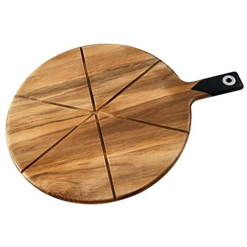 VEED Tablero de Pizza de Madera de Acacia Tablero de Pizza Tabla de Cortar de Cocina Tabla de Cortar Plato de Carne