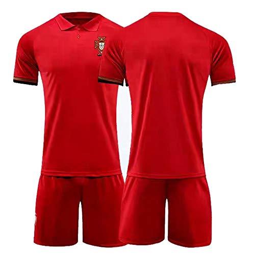 CBVB Fußballtrikot, Silva 9# 7#, Portugal Fußballuniformen, 2020-2021 (Heim & Auswärts), Erwachsene, Kinder, Spieltraining, Maßgeschneidert-HomeBank-XXL