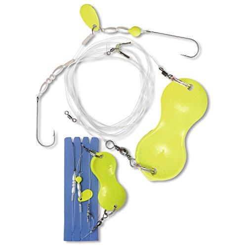 Zebco Flatty Teaser Buttlöffel Rig -fertig montiert, Gewicht:40g;Farbe:Gelb