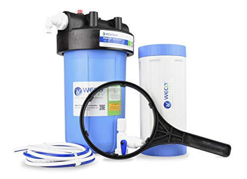 WECO Big Blue Specialty Water Filter System - Made in USA with Foreign & Domestic Components (FSB-1045H)