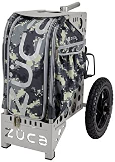 ZÜCA All Terrain Basic Camping Cart Anaconda/Gray Outdoor Rolling Bag (w/Multi-Use Pole Holder) and Built-in Seat