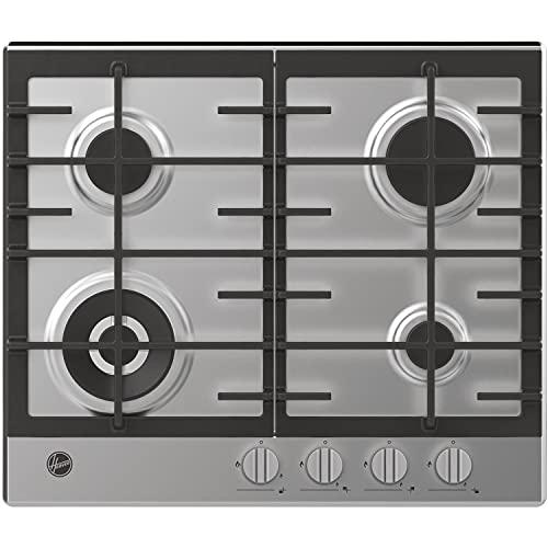 Hoover HHG6BF4K3X Plaques de cuisson à gaz en acier inoxydable 60 cm