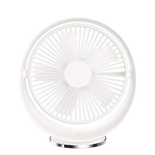 HLPIGF Ventilador Recargable con 3 Velocidades Funcionamiento Silencioso Ventilador de Escritorio USB para Viajes de Oficina en Casa