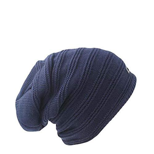 Bonnet Unisexe Chapeau tricoté Homme Beanie Hats, Tricotant Hiver Chaud Hommes De Mode Chapeau Unix Solide Tricot Femmes Casquettes Bonnets Bande Skullies pour Femme Bonnet @ Bleu