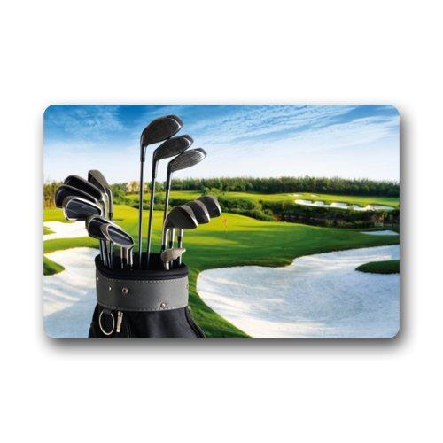 Clubs de Golf Brassie Golf Sport Tapis de Sol Paillasson Tapis d'entrée Paillasson Tapis Intérieur/extérieur/Avant de Porte de Salle de Bain/Tapis en Caoutchouc antidérapant (59,9 x 39,9 cm, L x l)