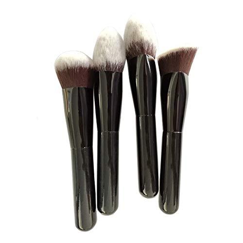 4 Pcs Maquillage Pinceau Professionnel Poignée En Bois Premium Synthétique Kabuki Fondation Mélange Blush Correcteur Brosse à maquillage XXYHYQ
