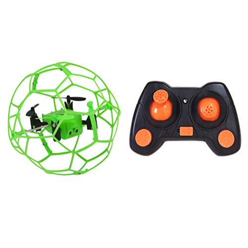 Creacom RC Quadcopter, Mini-Drohne RC Quadcopter 2,4 GHz 3D-Flip-Roller Headless Drone Helicopter Toys Green