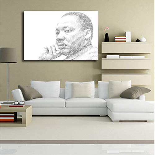 arteWOODS Martin Luther King Zitat Minimalistische Kunst Leinwand Poster Abstrakte Malerei Schwarz Weiß Wandbild Moderne Wohnkultur 50x75cm ungerahmt