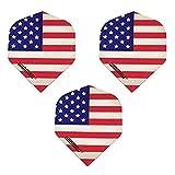 Winmau 9 Pack Mega USA American Flag Stars & Stripes America 75 Micron...