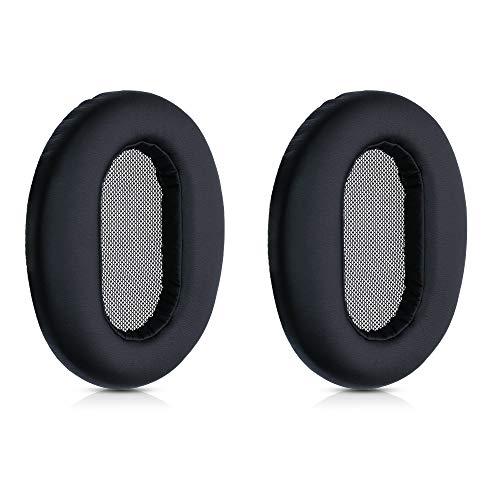 kwmobile 2X Almohadillas para Auriculares Compatible con Sony MDR 1AM2 - Almohadilla de Cuero sintético para Cascos