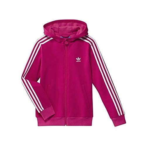 adidas Damen Trainingsjacke Hooded Track Top, bright pink f12/white, 140, X51934