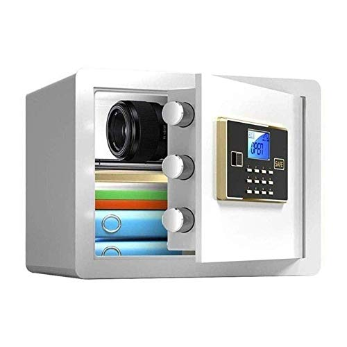 Cjcaijun For Cajas Fuertes Caja Fuerte Caja Fuerte de Seguridad, Electronic contraseña antirrobo Embedded System -38x30x30cm Multi-Color (Color: Oro) (Color : White)