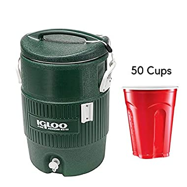 Igloo 5-Gallon Cooler, Green 50 Count Cups