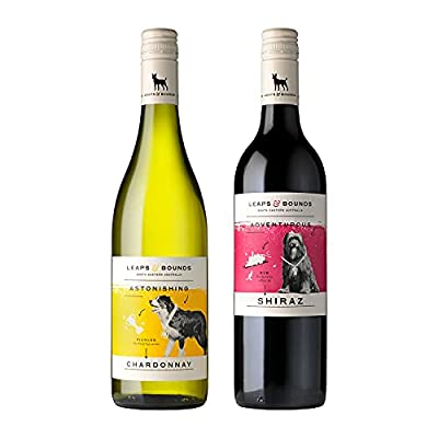 Leaps and Bounds Red Wine and White Wine Bundle   Chardonnay and Shiraz (2 x 75 cl)