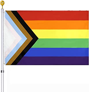 Progress Pride Flag Rainbow Flag 3x5FT All Inlcusive Pride Bisexual LGBTQ Non Binary Lesbian Gay Transgender Prides Procul...