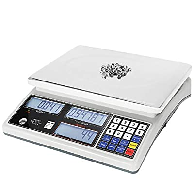 Bonvoisin Industrial Counting Scale Digital Scale for Parts and Coins kg/g/lb Electronic Gram Scale Inventory Counting Scale Industrial Parts Coins Piece Counting Scale (10kg/22lb, 0.1g)
