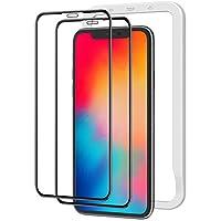 NIMASO 全面保護 玻璃膜 iPhone11Pro iPhoneX Xs 用 屏幕 保護膜 導向框 2張一套