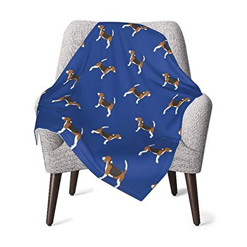 Manta de franela de forro polar suave y cálido Beagle perro perros azul real niños niño niño cochecito cama manta felpa 40 x 30 pulgadas