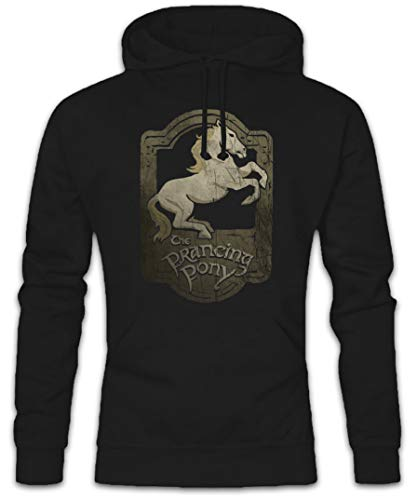 Urban Backwoods Prancing Pony Hoodie Sudadera con Capucha Sweatshirt Negro Talla M